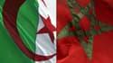 Les drapeaux algérien et marocain.