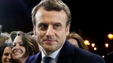 Le président-élu Emmanuel Macron, le 7 mai 2017 à Paris