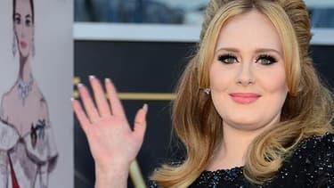 Adele aux Oscars en 2013.