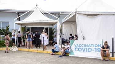 Un centre de vaccination à Cayenne en Guyane le 2 mai 2021.