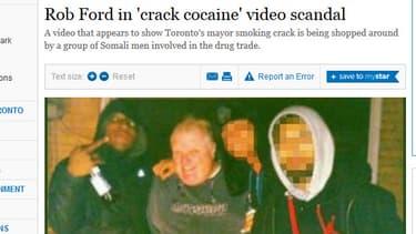 Une photo publiée par le site du Toronto Star, le 16 mai dernier, montre le maire Rob Ford aux côtés d'un homme identifié comme Anthony Smith, qui serait l'auteur de la vidéo à scandale.