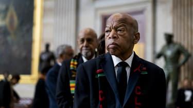 John Lewis, militant emblématique des droits civiques aux États-Unis, ici le 24 octobre 2019 à Washington D.C.