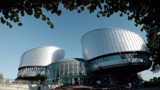 La Cour européenne des droits de l'Homme (CEDH), le 14 octobre 2014 à Strasbourg (Photo d'illustration)