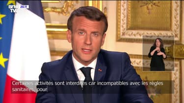 Emmanuel Macron le 13 avril 2020