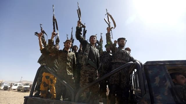 Des combattants Houthis.