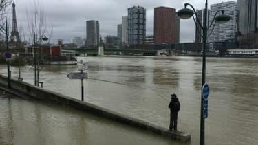 La crue de la Seine à Paris le 28 janvier 2018