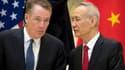 Robert Lightizer, représentant américain au Commerce et Liu He, vice-Premier ministre chinois