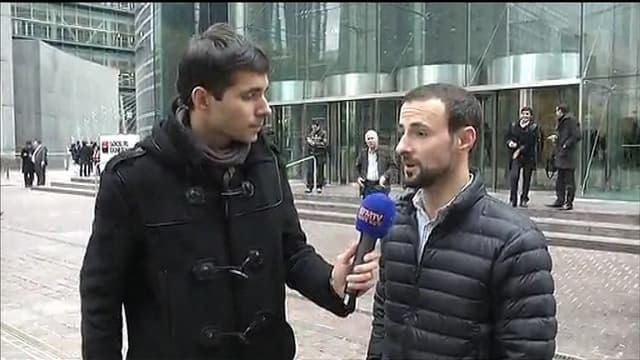 Pierre-Alber Garcias, témoin des coups de feu tirés lundi devant la Société Générale à la Défense.