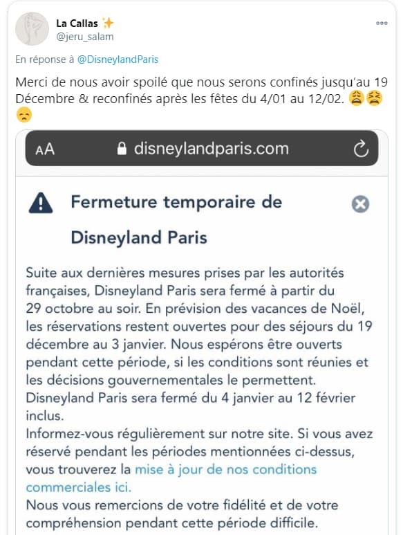 Un internaute assurant que la France va être confinée du 4 janvier au 12 février.