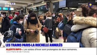 Grand froid: les trains Paris-La Rochelle annulés jusqu'à samedi midi