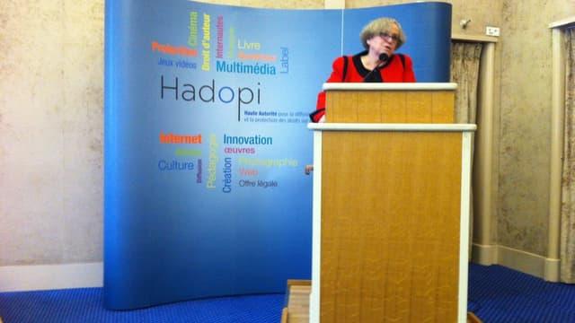 La présidente de l'Hadopi Marie-Françoise Marais a défendu son bilan face aux critiques des ayants droit