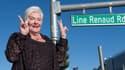 Line Renaud inaugurant sa rue à Las Vegas, le 28 septembre 2017.