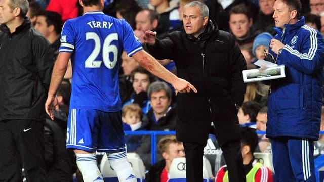 John Terry et José Mourinho
