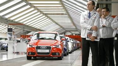 Dans l'usine Audi de Bruxelles, où a été fabriquée l'Audi A1, en 2010.