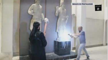 Les jihadistes de Daesh ont saccagé le musée de Mossoul dans ces images de propagande.