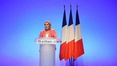 Marine Le Pen le 23 septembre 2018 à Mantes-la-Ville.