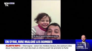En Syrie, un père apprend à sa fille à rire à chaque explosion de bombe