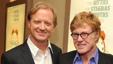 James et Robert Redford en 2012