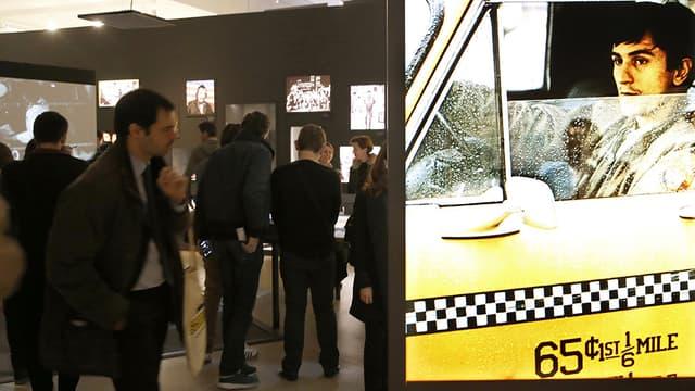 Vue de l'exposition Martin Scorsese, à la Cinémathèque française, dans le XIIIe à Paris.