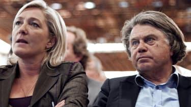 Marine Le Pen et Gilbert Collard, le 16 juin 2011.