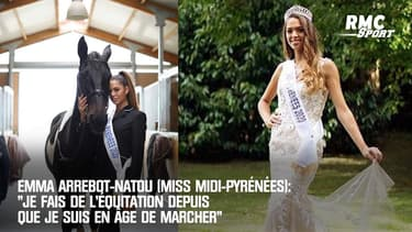 """Emma Arrebot-Natou (Miss Midi-Pyrénées): """"Je fais de l'équitation depuis que je suis en âge de marcher"""""""
