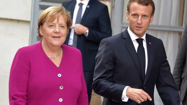 Angela Merkel et Emmanuel Macron le 16 octobre 2019 à Toulouse.