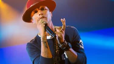 Pharrell Williams, en concert en Allemagne, le 16 septembre 2014.