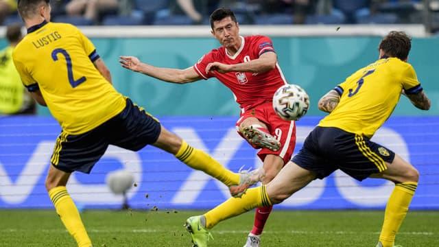 Lewandowski lors de Suède-Pologne