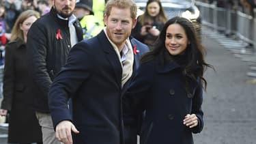 Le prince Harry et Meghan Markle à Londres le 1er décembre 2017