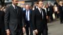Edouard Philippe et Emmanuel Macron le 26 juillet 2017 à Saint-Etienne-du-Rouvray.