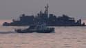 Navire de la marine sud-coréenne en patrouille au large de l'île de Yeonpyeong, cible de tirs d'artillerie de la Corée du Nord ayant fait quatre morts en novembre. L'armée sud-coréenne annonce qu'elle procèdera à partir de jeudi à des vastes manoeuvres te