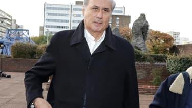 Georges Tron, arrivant au tribunal de Bobigny le 23 octobre 2018