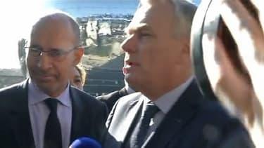 Le Premier ministre Jean-Marc Ayrault et le premier secrétaire du PS Harlem Désir