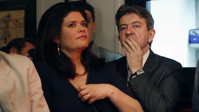 Raquel Garrido et Jean-Luc Mélenchon, le 25 mai 2014 à Paris