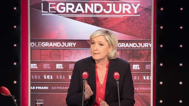"""Marine Le Pen, ce dimanche, chez nos confrères de LCI-RTL-""""Le Figaro"""""""