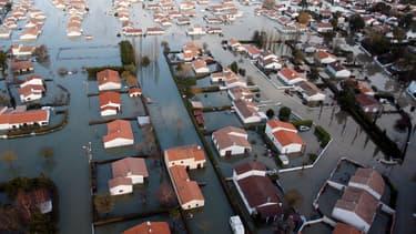 La Faute-sur-Mer quelques jours après le passage de la tempête Xynthia. 29 personnes avaient trouvé la mort dans la commune.