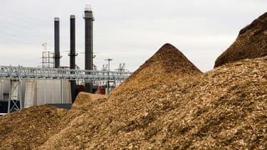 Le bois de récupération est l'un des combustibles possibles pour une centrale à biomasse.