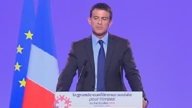 Manuel Valls a clôt la conférence sociale, ce mardi 8 juillet.