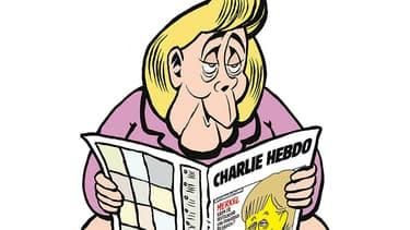 L'affiche de lancement de la version allemande de Charlie Hebdo