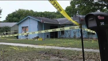 La maison de Floride sous laquelle le sol s'est effondré et où un homme a trouvé la mort.
