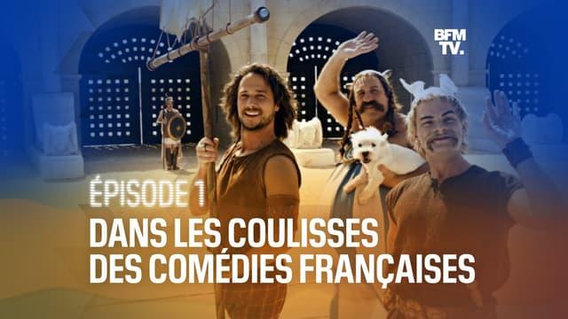"""Gérard Depardieu, Clovis Cornillac et Stéphane Rousseau dans """"Astérix aux Jeux Olympiques"""" (2008)"""