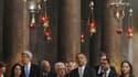 Barack Obama s'est rendu vendredi à l'église de la Nativité, au dernier jour de son voyage en Israël et dans les territoires palestiniens. Le président américain a reçu à Bethléem un accueil aussi peu enthousiaste que la veille à Ramallah. /Photo prise le