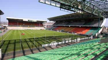 Le stade Geoffroy-Guichard à Saint-Etienne avant sa rénovation complète.