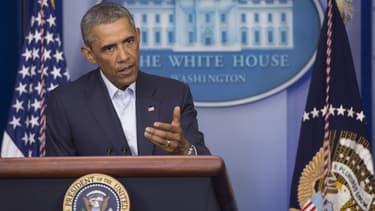 Le président américain Barack Obama lors d'une conférence de presse à la Maison Blanche, le 18 août 2014.