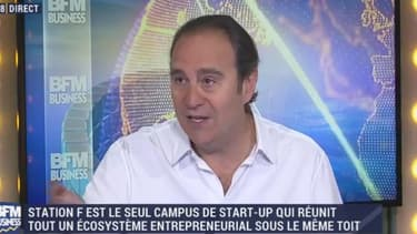 """""""Il faut qu'on ait plus de tentatives de créations d'entreprises et notre idée avec Station F est de pousser les jeunes vers l'entrepreneuriat"""" a soutenu Xavier Niel sur l'antenne de BFM Business"""