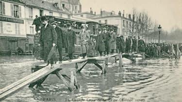 La crue de la Seine en 1901 a été destructrice