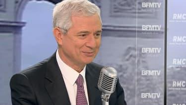 Claude Bartolone, le président PS de l'Assemblée, sur le plateau de BFMTv-RMC le 29 janvier 2015.