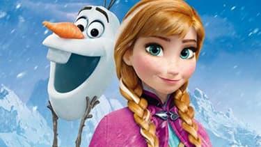 """Elsa et Olaf le bonhomme de neige, héros de """"La reine des neiges""""."""