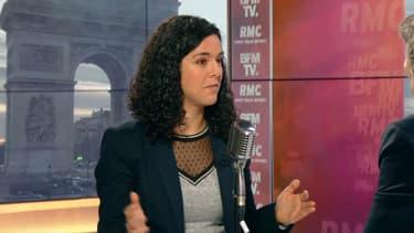 Manon Aubry sur BFMTV et RMC le 4 février.