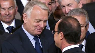 Le Premier ministre Jean-Marc Ayrault et le président de la République François Hollande